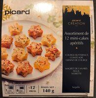 Assortiment de 12 mini-cakes apéritifs - Produit - fr