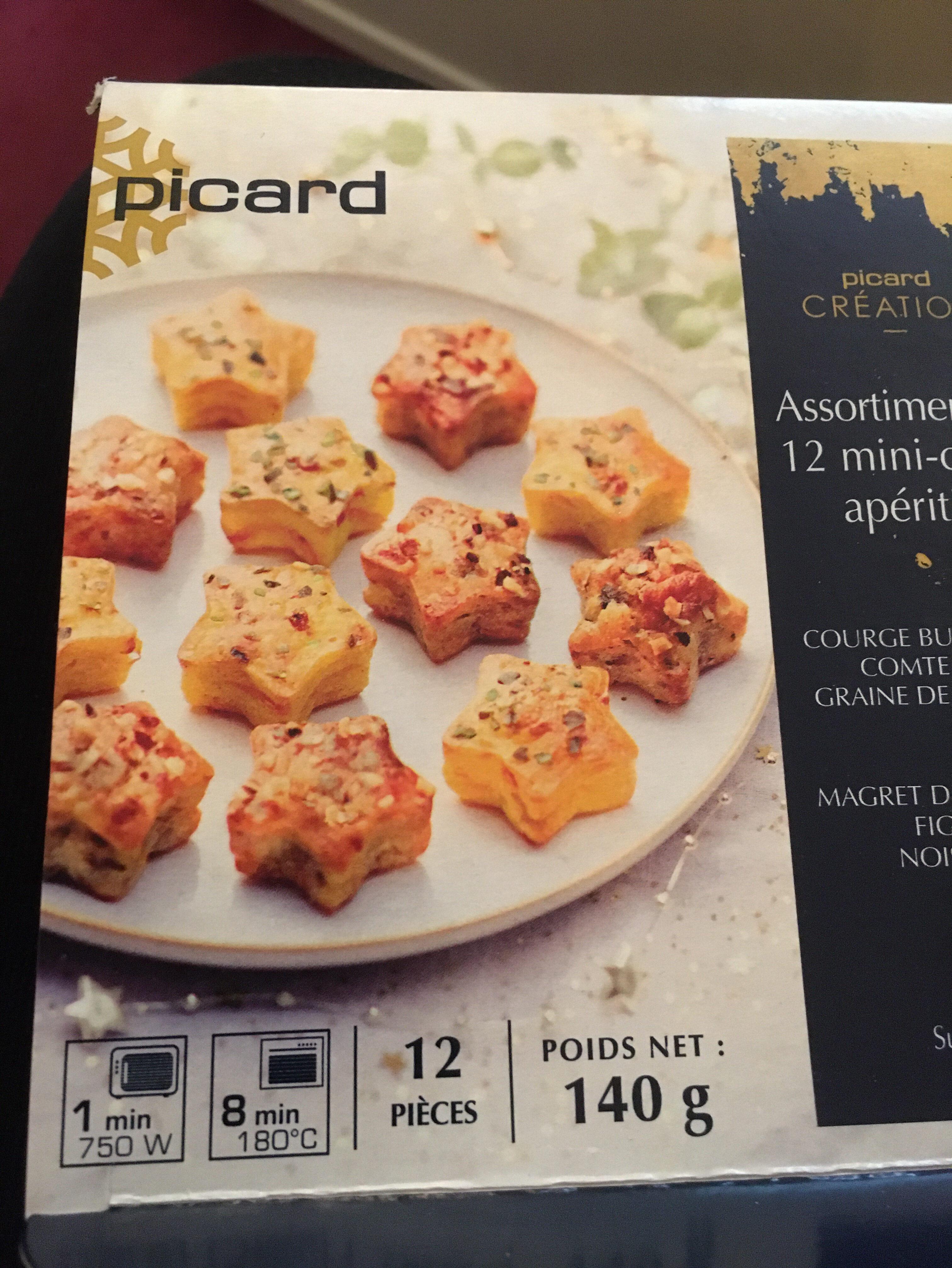 Assortiment de 12 mini-cakes apéritifs - Ingrédients - fr