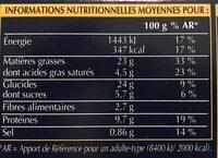 Assortiment de 12 mini-cakes apéritifs - Informations nutritionnelles - fr