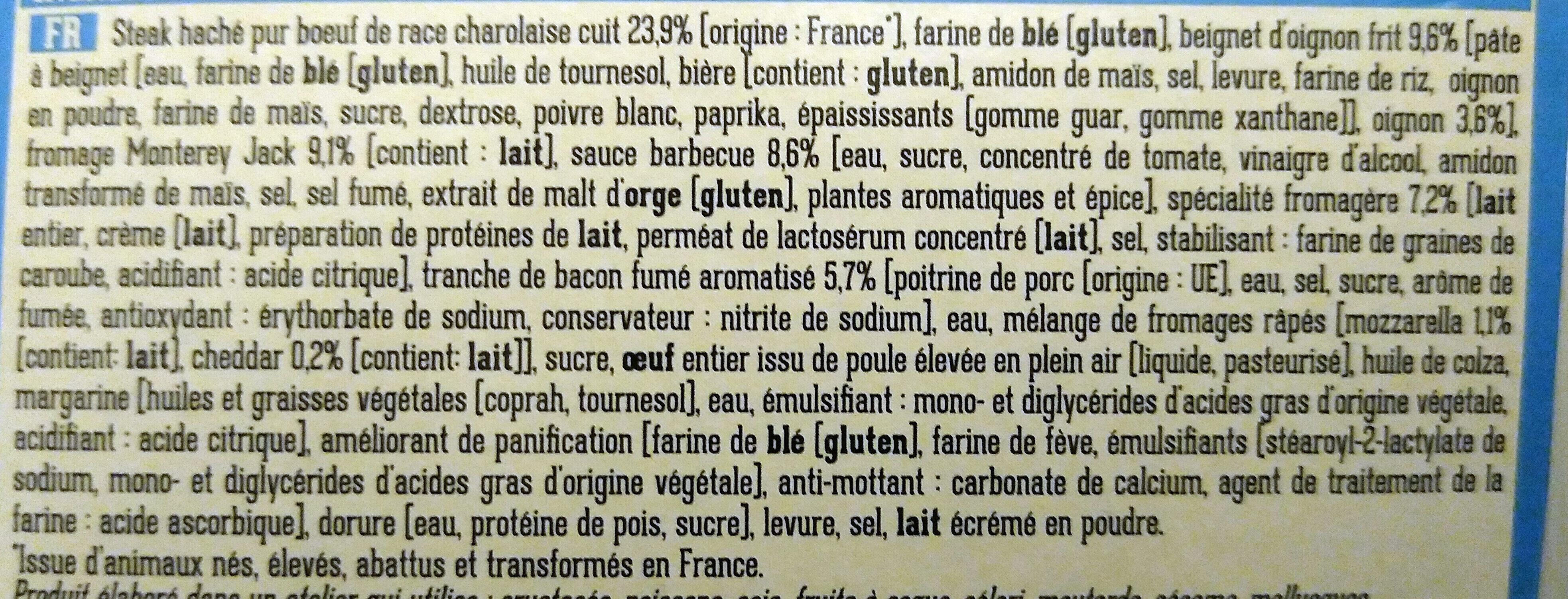 BBQ bacon burger - Ingrediënten - fr