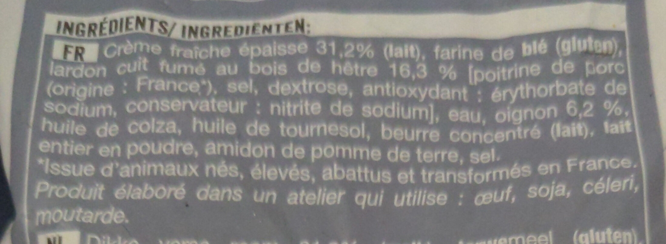 12 mini flammekueches - Ingrediënten - fr