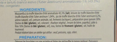 Mozzarelline al tartufo bianco estivo - Ingredients - fr