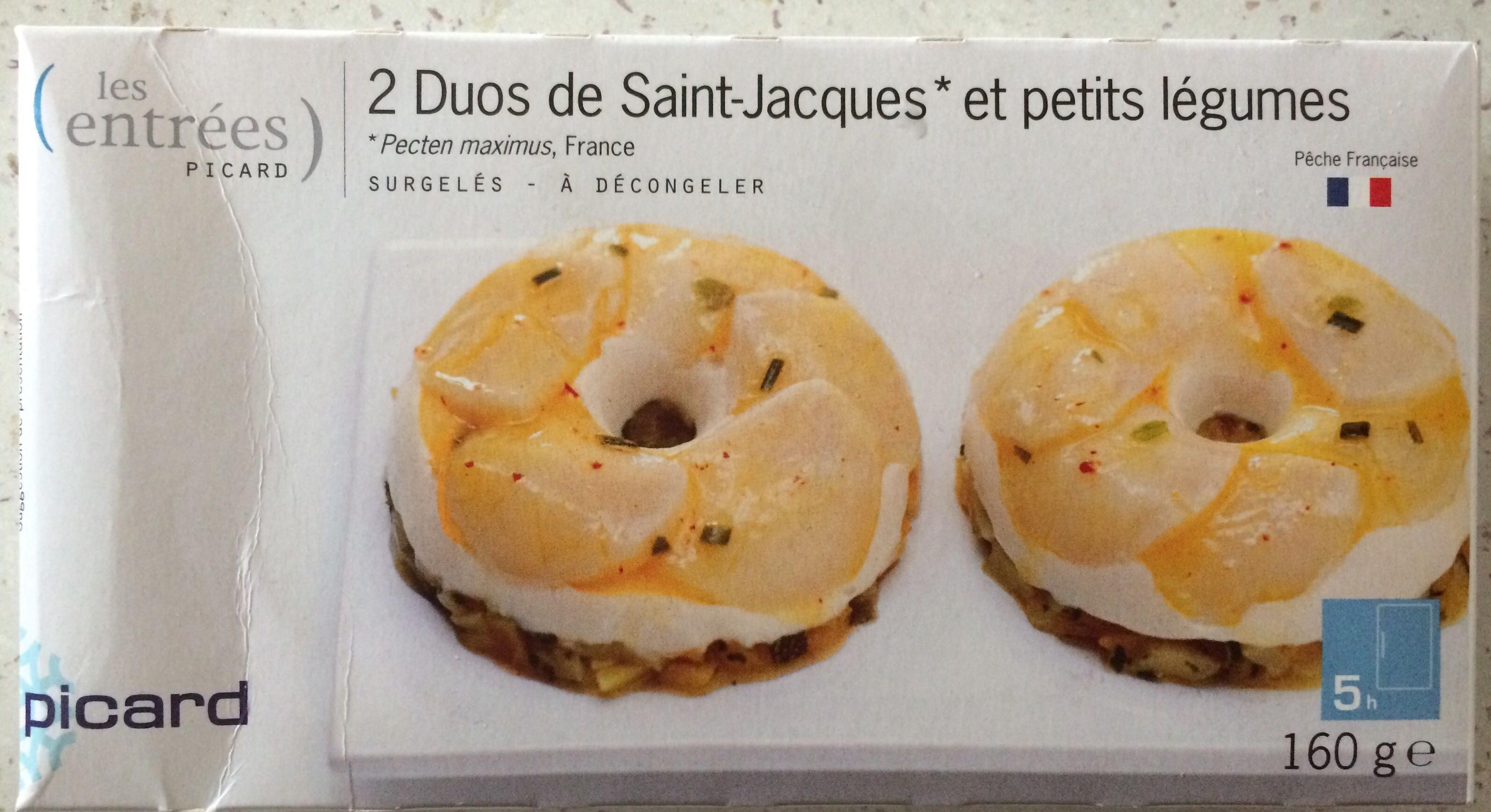 2 Duos de Saint-Jacques et petits légumes - Product - fr