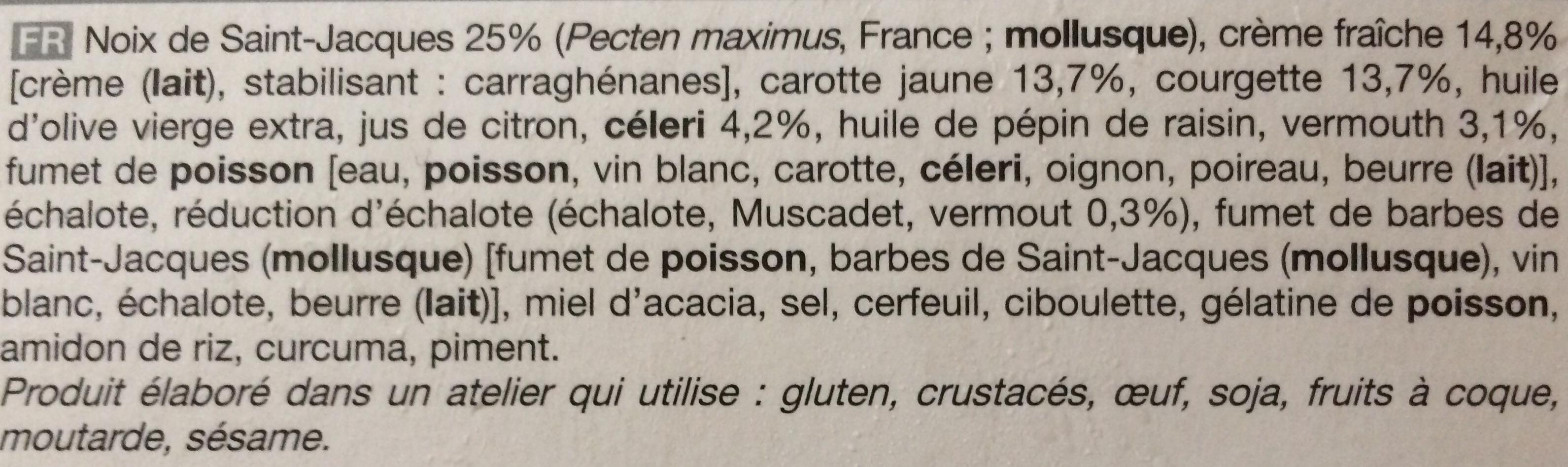 2 Duos de Saint-Jacques et petits légumes - Ingredients - fr