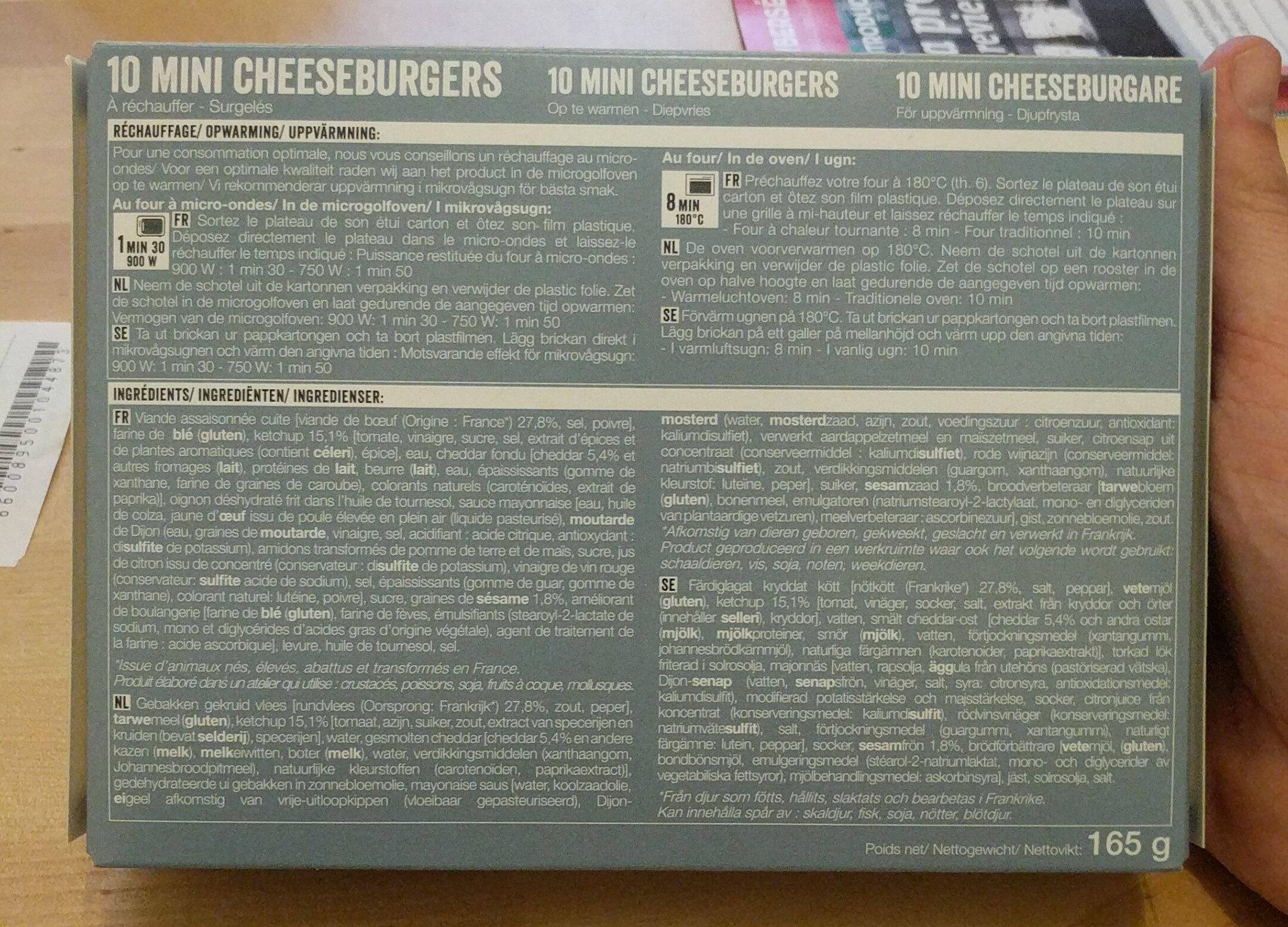 10 Mini cheeseburgers - Ingrediënten - fr