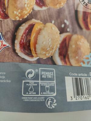 10 Mini cheeseburgers - Recyclinginstructies en / of verpakkingsinformatie - fr