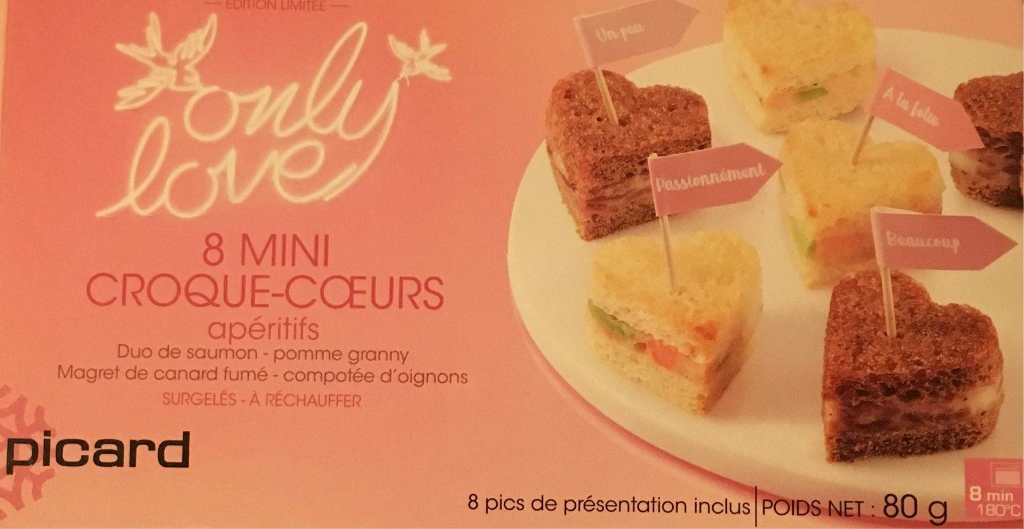 8 Mini Croque-cœurs Apéritifs - Produit - fr