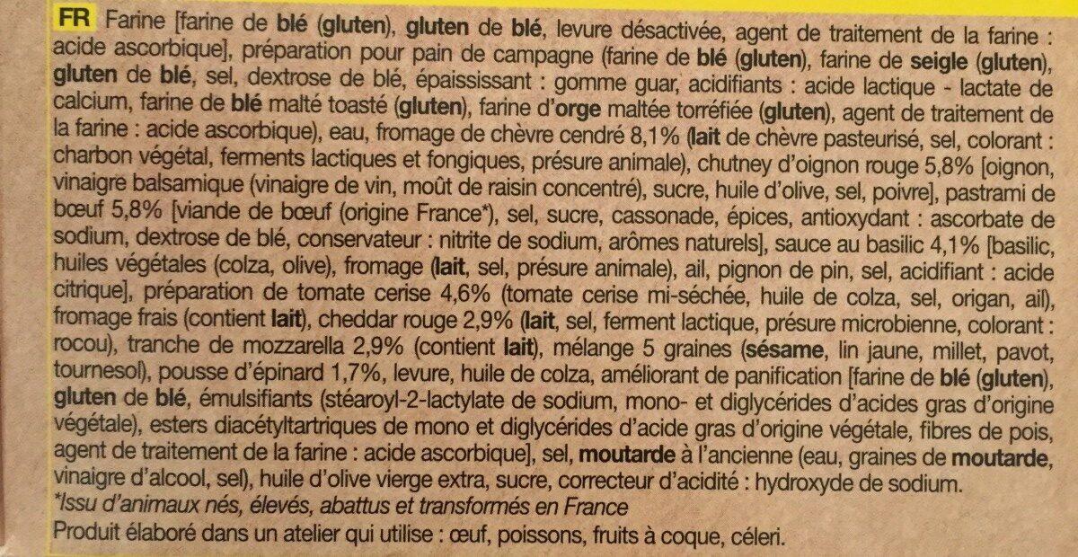 Trio de mini sandwichs - Ingredients - fr