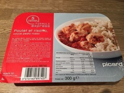 Poulet et Risotto, Sauce Pesto Rosso - Prodotto - fr