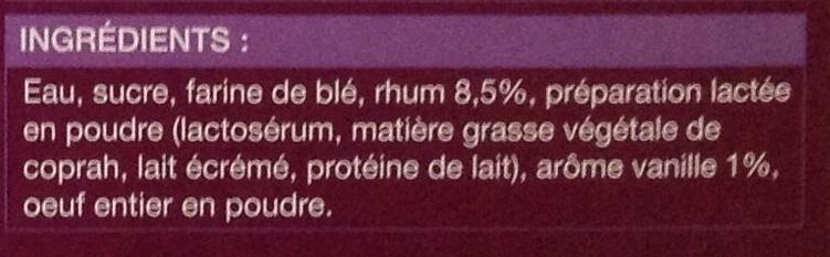 Petits canelés - Ingrediënten