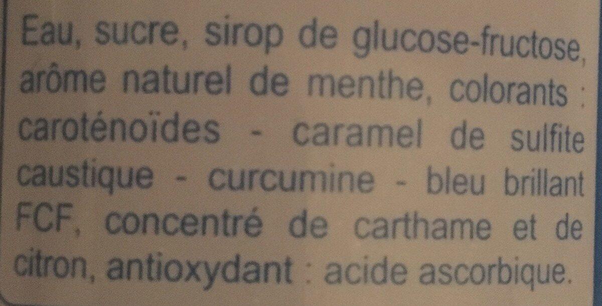 Sirop de menthe - Ingredienti - fr