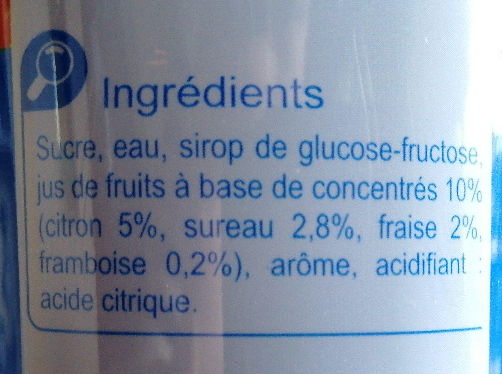 Sirop Grenadine - Ingrediënten
