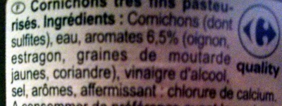 Cornichons (Très Fins) - Ingredients - fr