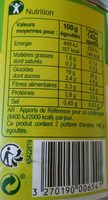 Maïs doux croquant - Valori nutrizionali - fr