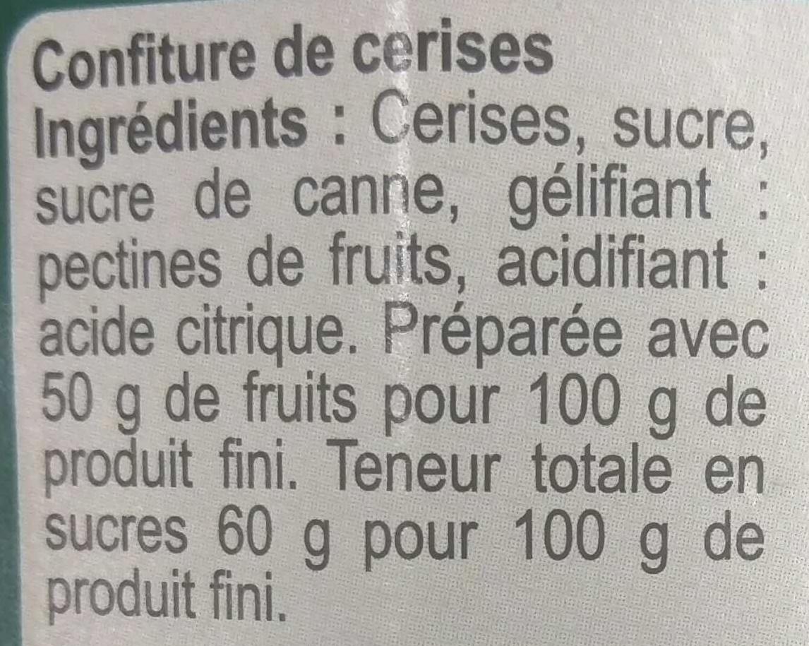 Confiture Cerise - Ingredients - fr