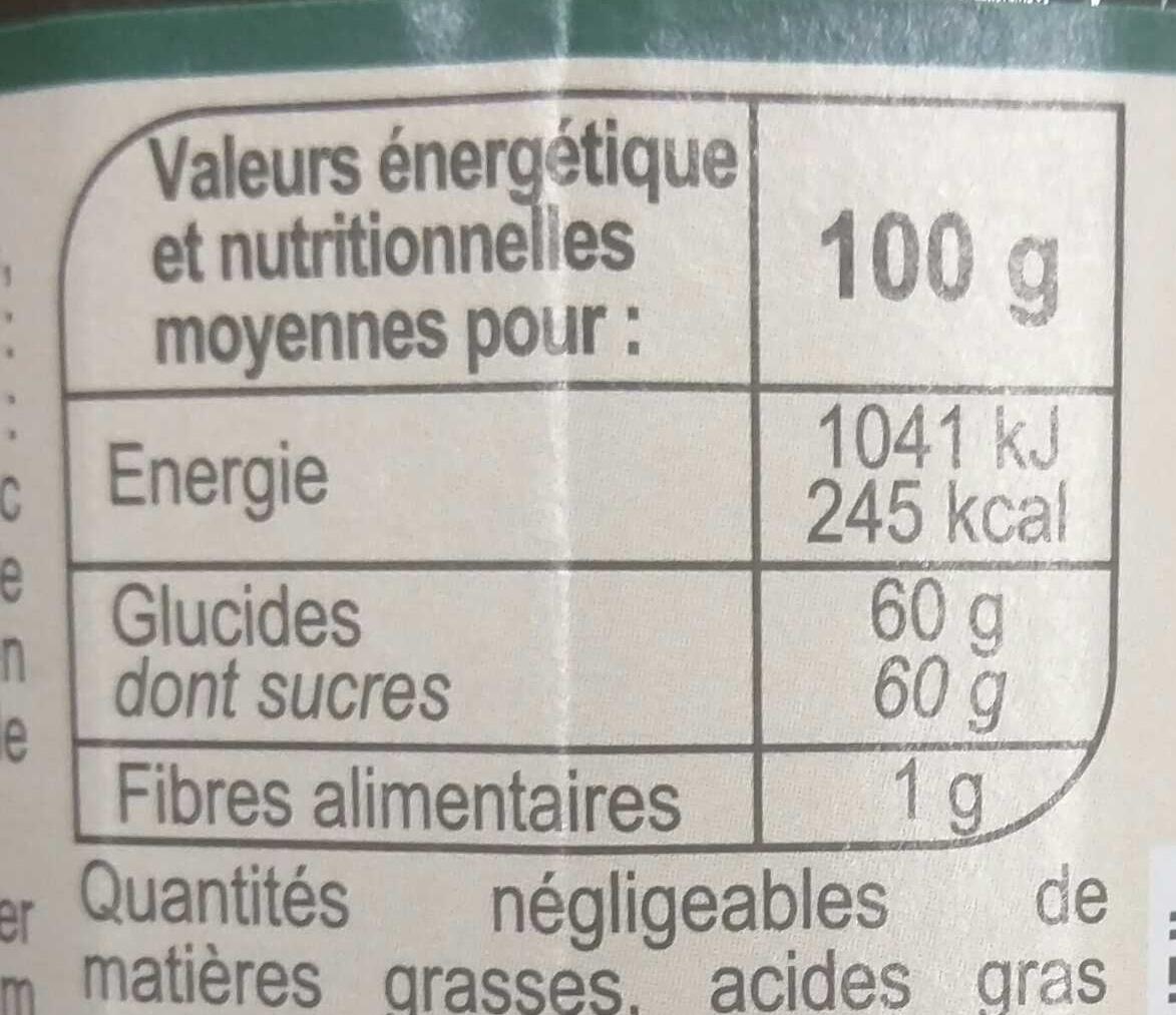 Confiture Cerise - Nutrition facts - fr
