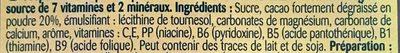 Poudre cacaotée - Ingrediënten - fr