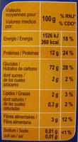 Couscous grain moyen - Informació nutricional