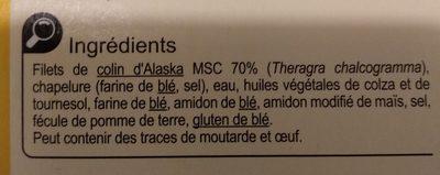 8 Tranches panées Colin d'Alaska - Ingredienti - fr