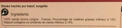 Le Pur Boeuf 10 Steaks hachés - Ingredients - fr