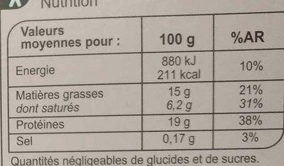 Le Pur Boeuf 10 Steaks hachés - Nutrition facts - fr