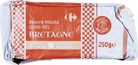 Beurre Moulé DEMI-SEL BRETAGNE - Produit - fr