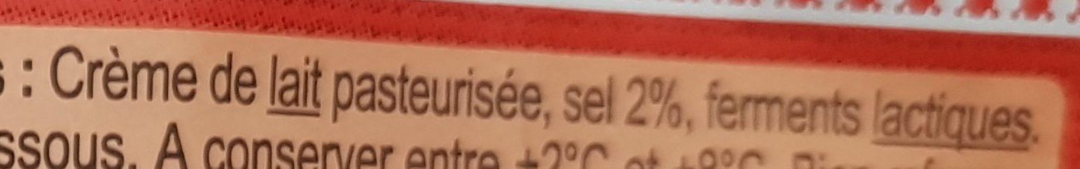 Beurre moulé demi-selbretagne - Ingredients - fr