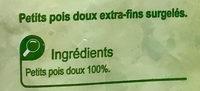 Petits pois doux Extra-fins - Ingrédients - fr