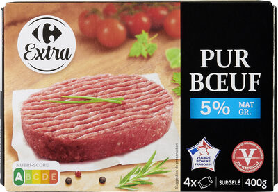Steacks hachés le Pur Boeuf - Produit - fr