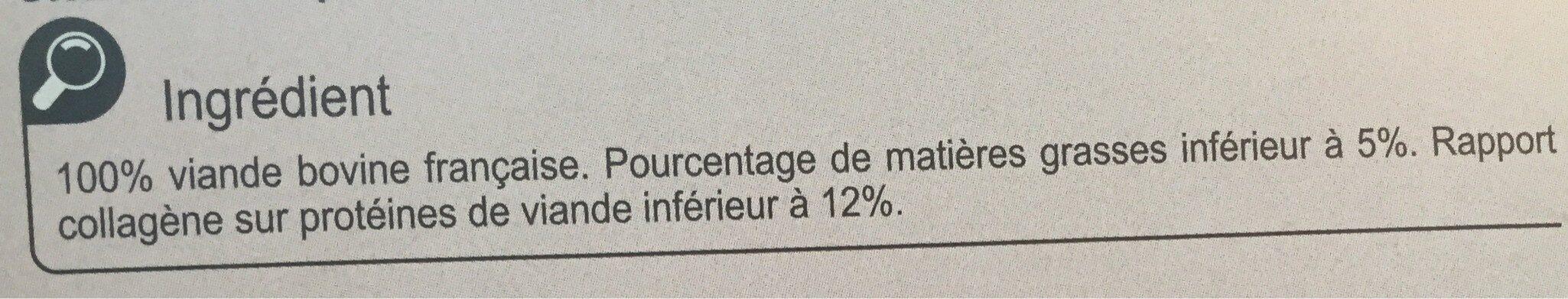 Steacks hachés le Pur Boeuf - Ingrédients - fr