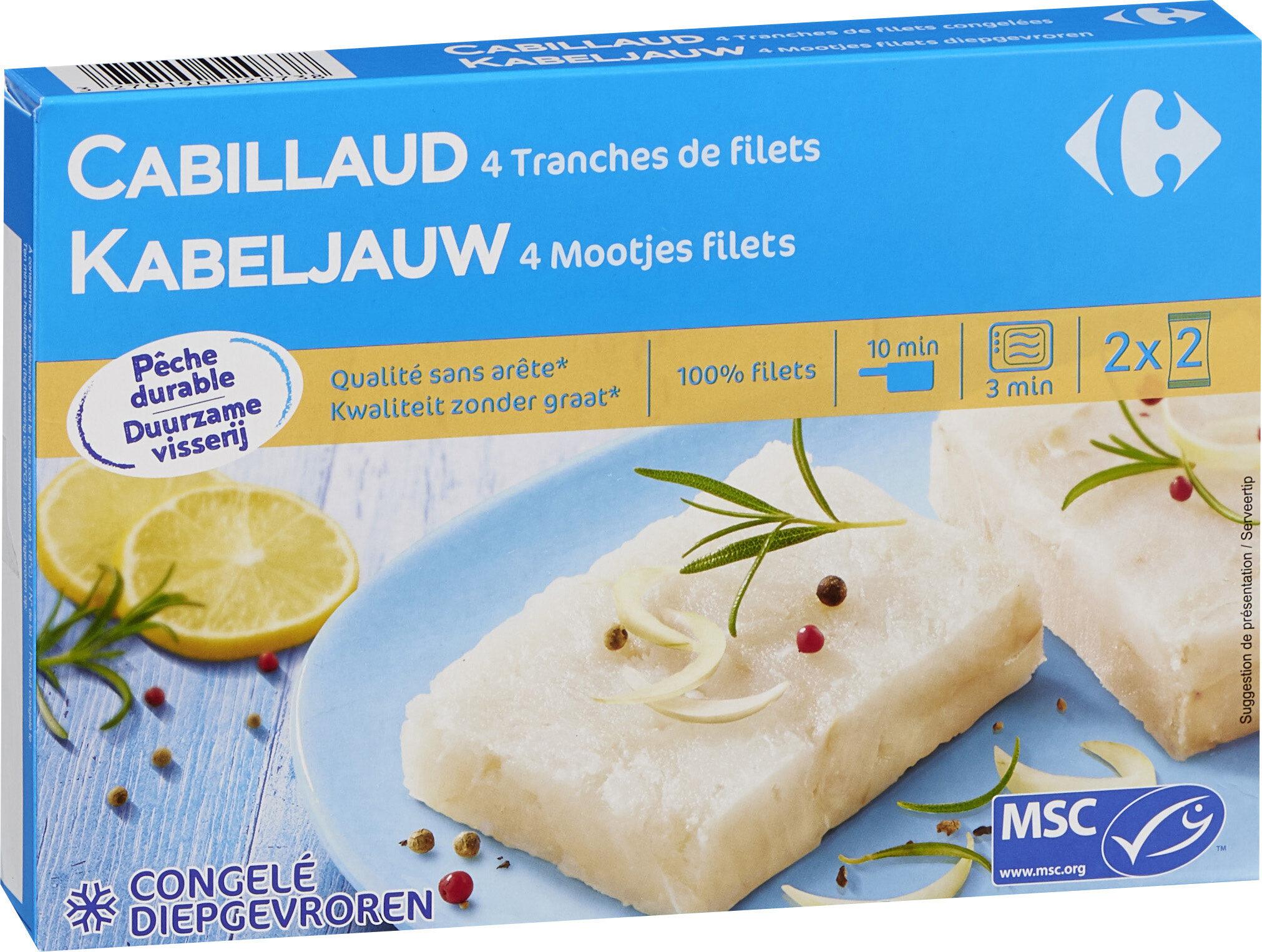 Filets De Cabillaud Surgelés - Produit - fr