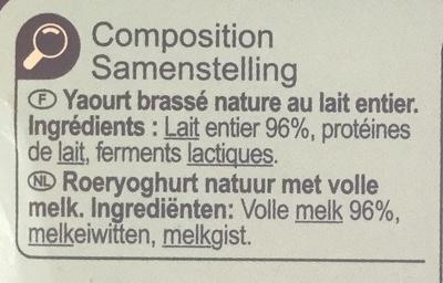 Yaourt Nature Brassé - Ingrediënten
