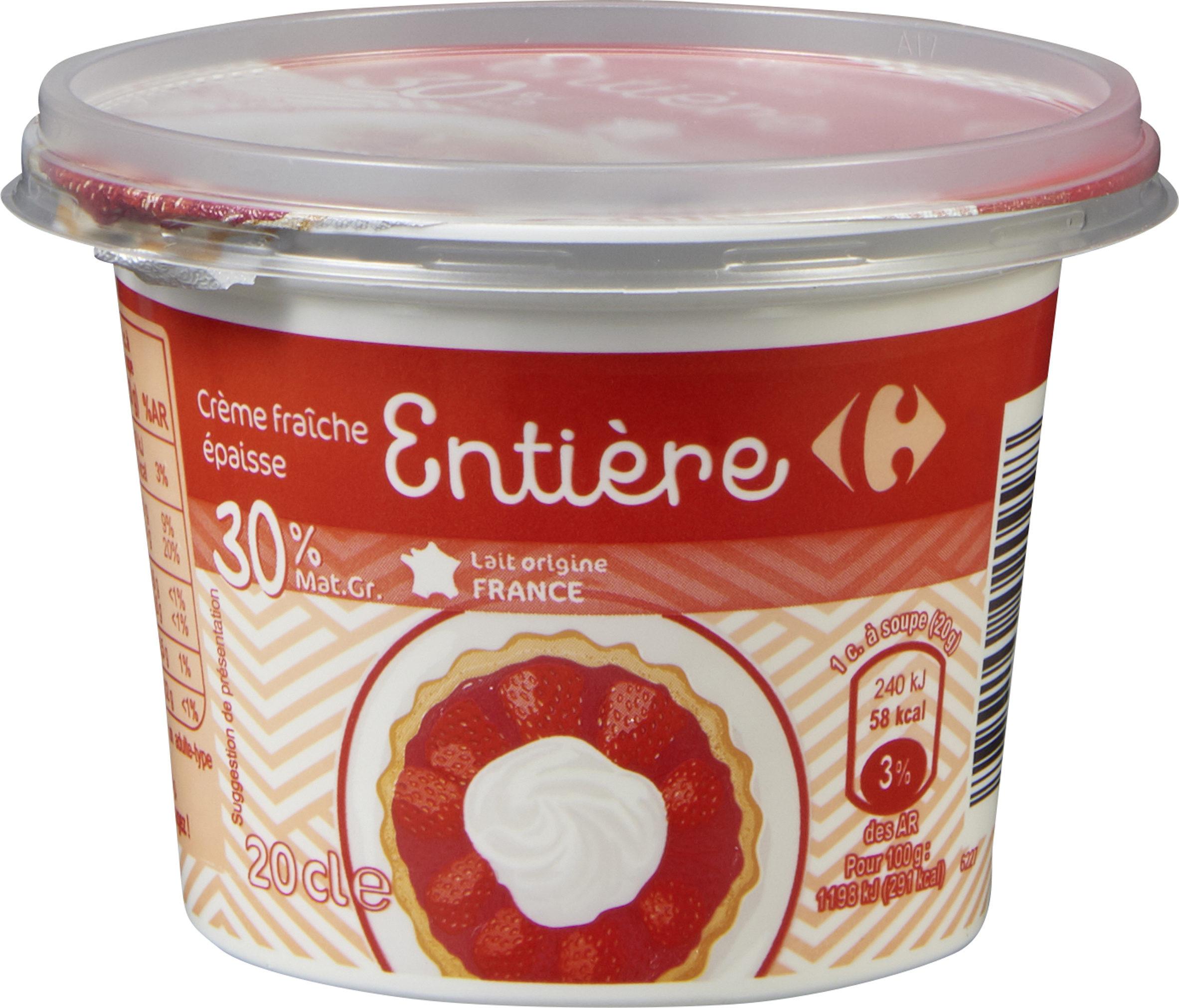 Crème fraîche épaisseEntière - Product - fr
