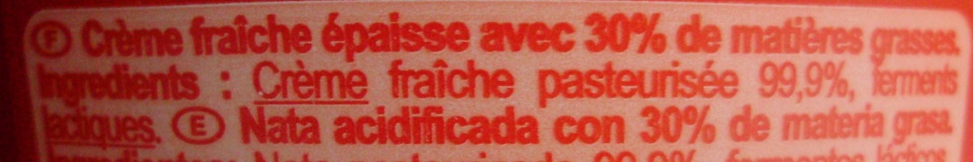 Crème fraîche épaisseEntière - Ingredients - fr