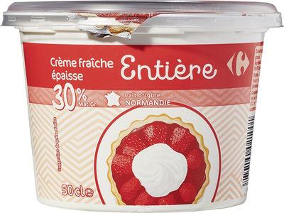 Crème fraîche épaisse Entière - Produit