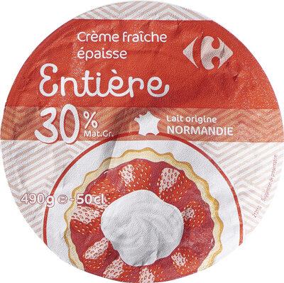 Crème fraîche épaisse Entière - Product - fr