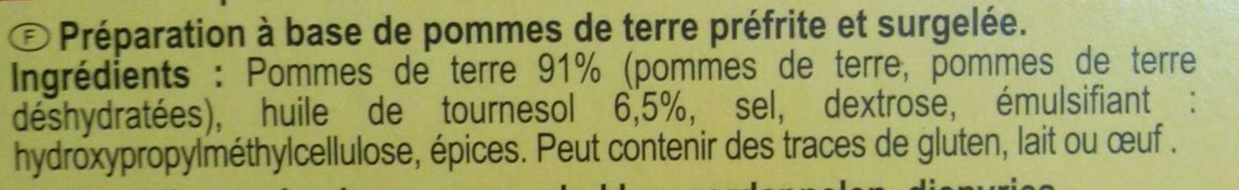 Pommes noisettes - Ingrediënten