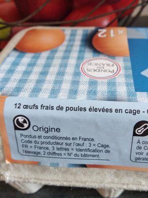 OEufs de poules Datés du jour de ponte - Ingredients - fr