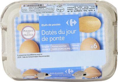 Oeufs de poules Datés du jour de ponte. - Product - fr