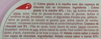 Crème glacée à la menthe avec des copeaux de chocolat noir en inclusions - Ingrédients - fr