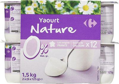 Yaourt nature 0% mat. gr. - Produit - fr