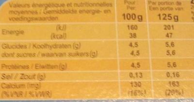 Yaourt nature 0% mat. gr. - Informations nutritionnelles - fr
