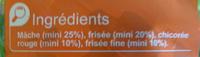 Salade prête à consommer, Mélange Gourmand (4 portions) - Ingrédients
