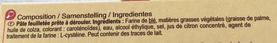 Pâte feuilletée (lot de 2) - Ingredients - fr