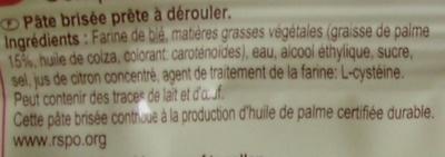 Pâte brisée - Ingredients - fr