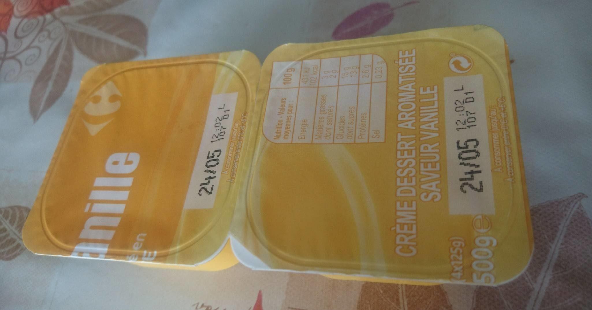 Crème dessert aromatisée saveur vanille - Product