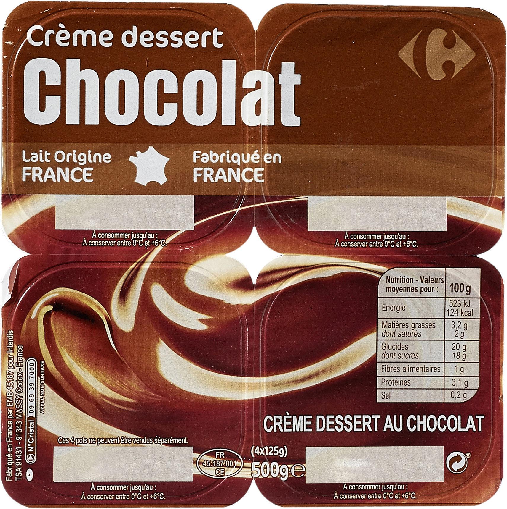 Crème dessert au chocolat - Product - fr