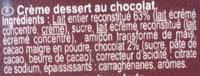 Crème dessert au chocolat - Ingrediënten - fr