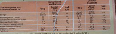 Crème dessert 6 Chocolat 6 Saveur Vanille - Nutrition facts - fr