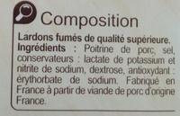 Lardons  Fumés - Ingredients - fr